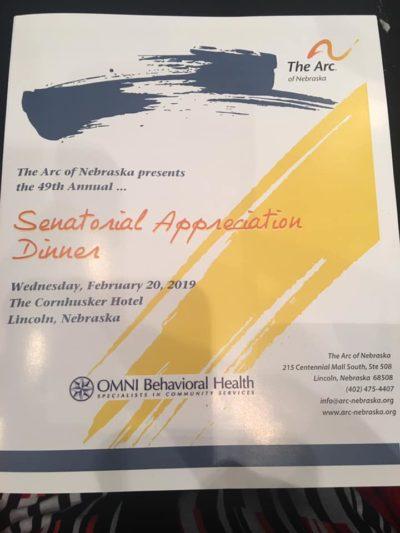 senator appreciation dinner program